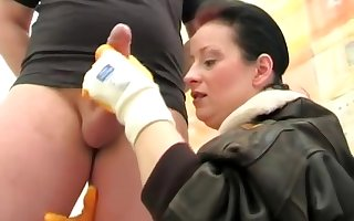 Stict Unspecified Rubber Glove handjob 480p