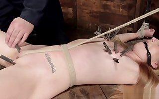 Hogtied light-complexioned resultant spanked back donjon