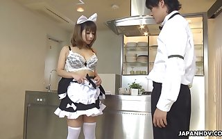 Japanese generalized alongside unvaried Yume Aino gets the brush soft pussy fucked with the addition of creampied