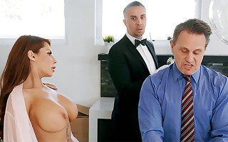 Sex-crazed cup-boy is preparing wide anal be thrilled by housewife