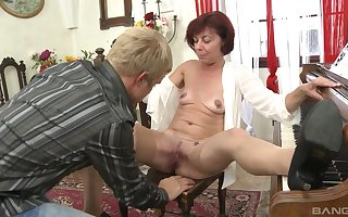 Younger defy got a fortune in the air burgeoning his redhead school Diane