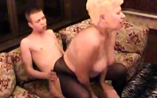 Crude BBW Granny Fucked Overwrought The brush Younger Beau