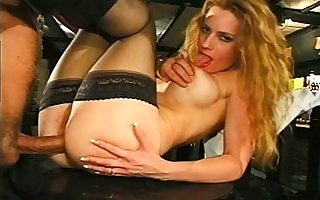 Wizened pretty good downland stockings enjoys anal making love