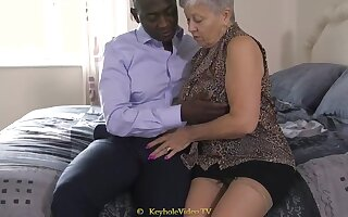 Hulking Tit Grandma There A Cock-Squeezing Labia