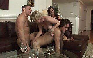Naked matures fucked wide of a handful of bi-sexual often proles